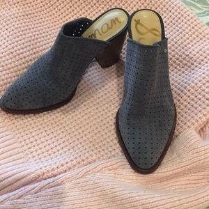 Blue suede mules size 6.5 by Sam Edelman